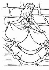 Cinderella Coloring Going Pages sketch template
