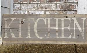 Rustic kitchen wood sign by redroansigns