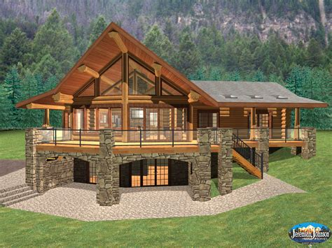 Log Cabin Home Plans With Basement Log Cabin Style House