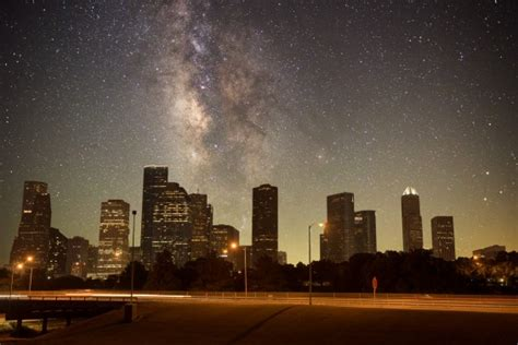 Light Show Houston by New Timelapse Shows Nightscapes Without Light Pollution