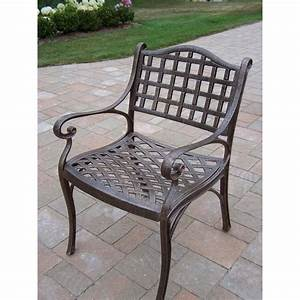 Oakland Living Elite Cast Aluminum Arm Chair