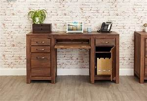 Buy Baumhaus Mayan Walnut Twin Pedestal Computer Desk