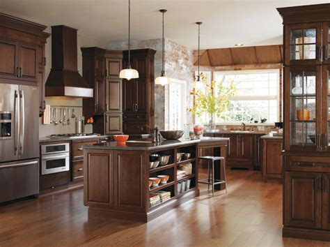 traditional cherry kitchen cabinets traditional
