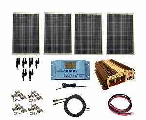 Complete 400 Watt Solar Panel Kit with 1500W VertaMax ...