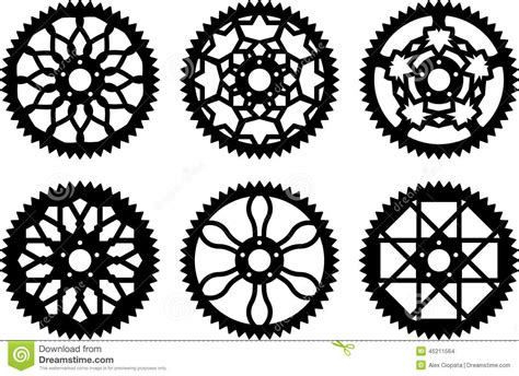 Vector Chainrings Pack Stock Vector. Image Of Component