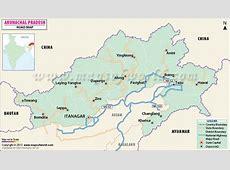 Arunachal Pradesh Road Map