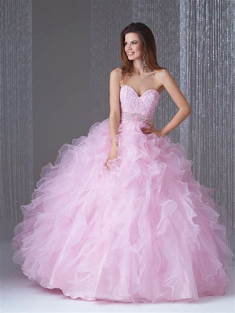 allure  ballgown  pastel ruffles french novelty