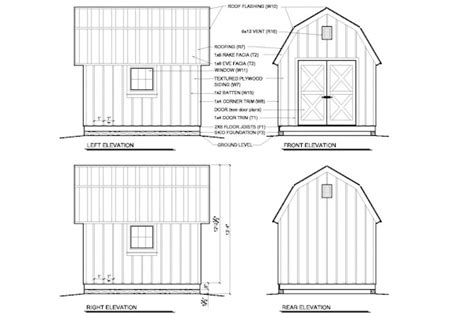 free gambrel shed plans 12x12 shedfor shed plans free 12x12 x 1 16