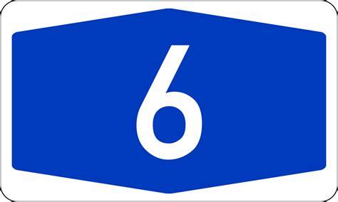 Bundesautobahn 6 Number.svg
