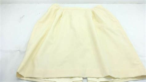austin reed womens ivory wool garbardine straight skirt