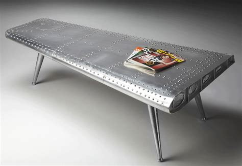 aviator wing desk airplane wing coffee table airplane decor airplane room