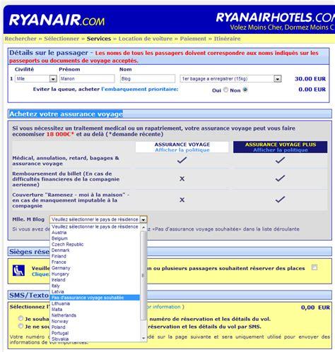 siege ryanair comment ne pas prendre l 39 assurance ryanair la réponse