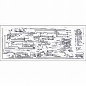 Ford Thunderbird Wiring Diagram  Large 34 X 14 Foldout  1957