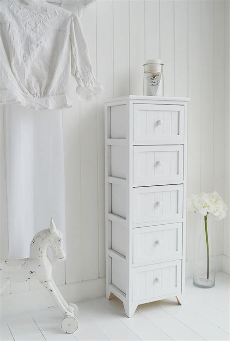 maine tall slim chest   drawers white tallboy bedroom