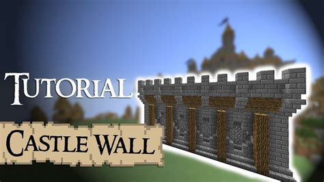minecraft tutorial medieval walls version  youtube