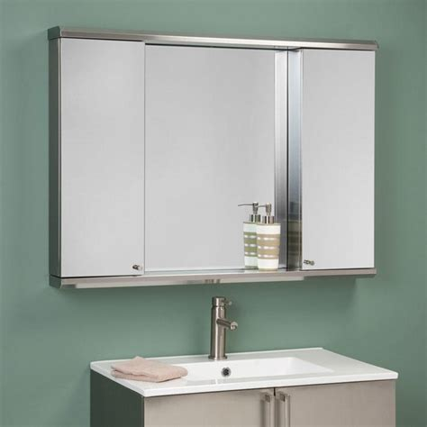medicine cabinet with outlet metropolitan dual stainless steel medicine cabinets bathroom