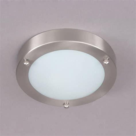 bathroom ceiling lights mari flush bathroom light satin nickel from litecraft