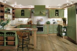 kitchen interior decorating green kitchen interior design stylehomes net