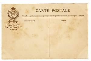 Vintage French Postcard Background