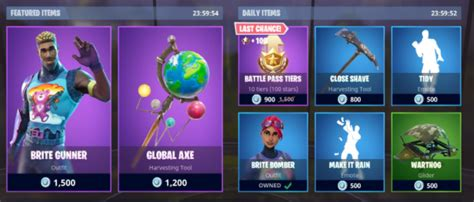 daily items   fortnite shop today
