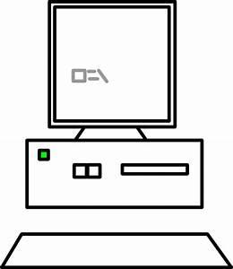 Computer Outline Clip Art at Clker.com - vector clip art ...