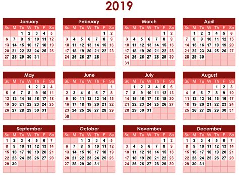 blank printable calendar template
