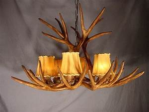 Cast mule deer antler chandelier downlight rs d lamps