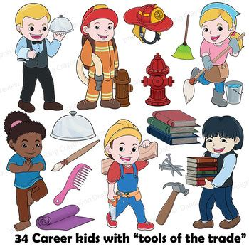 Community Helpers Clipart Community Helpers Clip With Props Clipart Bundle