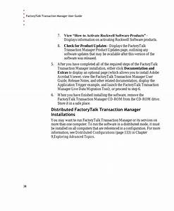 Rockwell Automation Factorytalk Transaction Manager User
