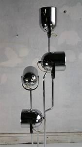 Reggiani 4 head chrome and black floor lamppop 60s at for Reggiani chrome floor lamp