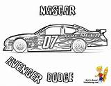 Coloring Nascar Race Printable Avenger Side Dodge Dale Children Cars Jr Yescoloring Cool Force Fusion Ford sketch template