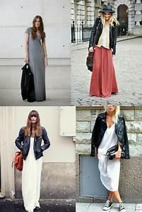 la robe longue et le perfecto looks simples et efficaces With robe blanche hiver