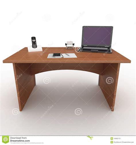 bureau laptop 3d bureau met laptop stock fotografie afbeelding 16092172