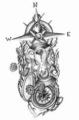 Tattoo Designs Hourglass Broken Drawing Drawings Steampunk Glasses Sketch Sketches Compass Coloring Tattoos Visit Tatouage Capricorn Salvo Google sketch template