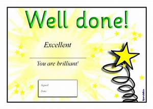well done certificates sb211 sparklebox With well done certificate template