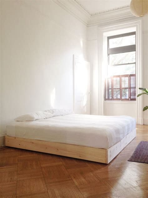 simple wood bed frame ideas  pinterest