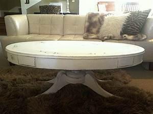 chalk paint vintage coffee tableoval white distressed With distressed oval coffee table
