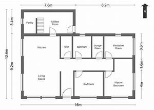 Simple floor plans measurements house home plans for Simple house floor plans with measurements