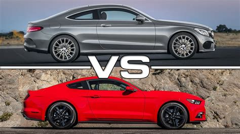 2017 Mercedes-benz C-class Coupe Vs 2015 Ford Mustang