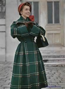 Vintage Plaid Coat Dress