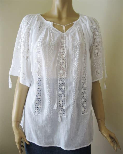embroidered peasant blouse embroidered peasant blouse white tinny