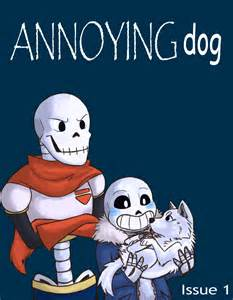 Undertale Annoying and Sans Dog