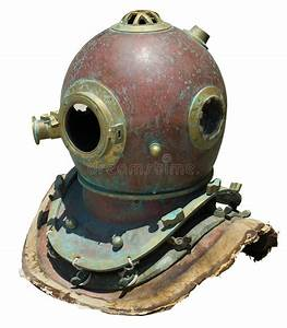 Antique scuba helmet stock image. Image of brass, copper ...