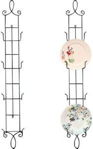 plate rack wall display decorative vertical stand metal  tier  easel pcs ebay