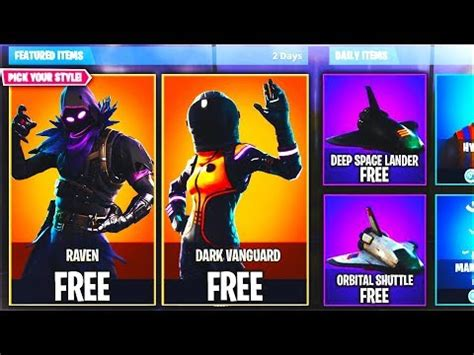 raven dark vanguard skin update fortnite