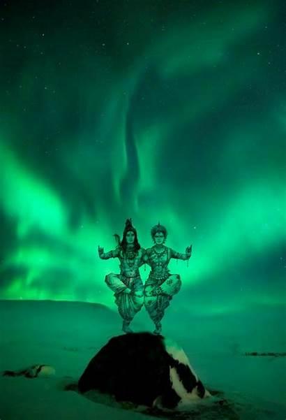 Shiva Parvati Dancing Lord Hindu Painting Creative