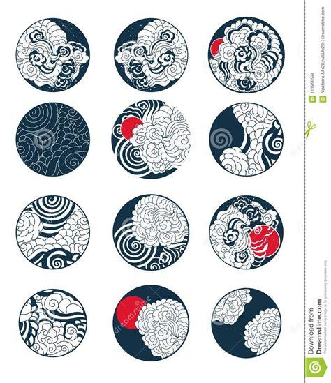 conception japonaise de nuage pour le tatouage tatouage