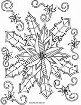 Coloring Winter Pages Doodle Alley Mistletoe sketch template