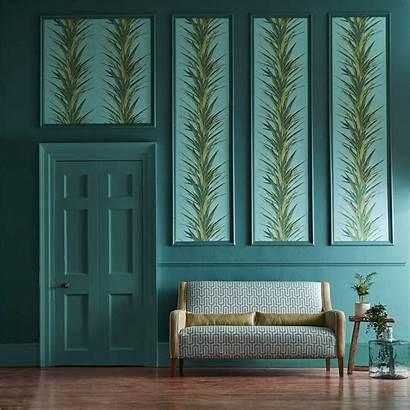 Sanderson Yucca Interiors Wallpapers Glasshouse Sky Fabric