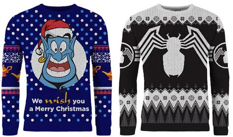 ugly christmas knitted sweaters get ready for the holidays with venom and genie ugly